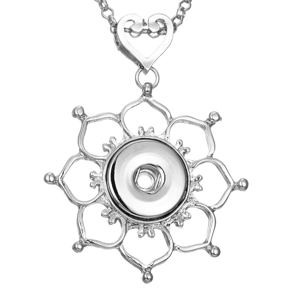 High Quality Rudder white Rhinestone metal snap Necklaces fit 18/20mm snap buttons jewelry