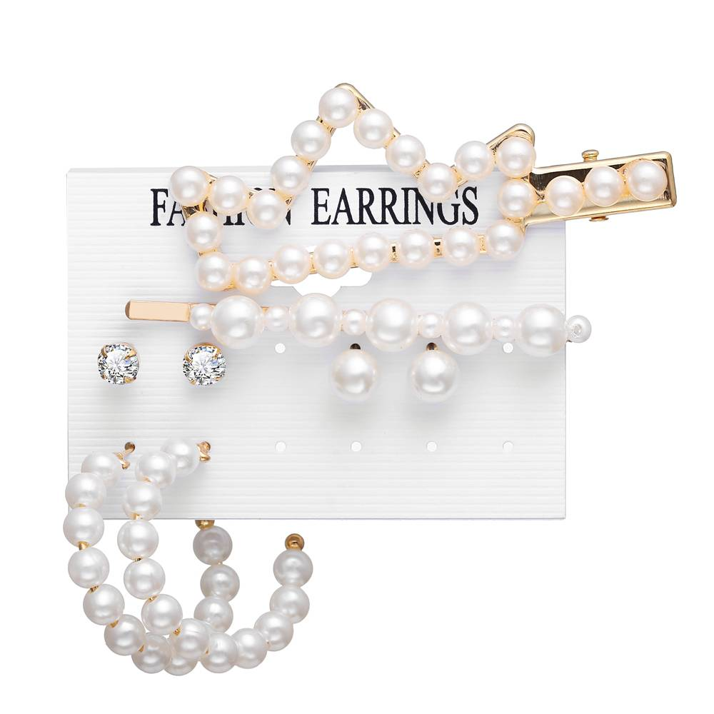 5pcs Alloy Pearl Hair accessories
