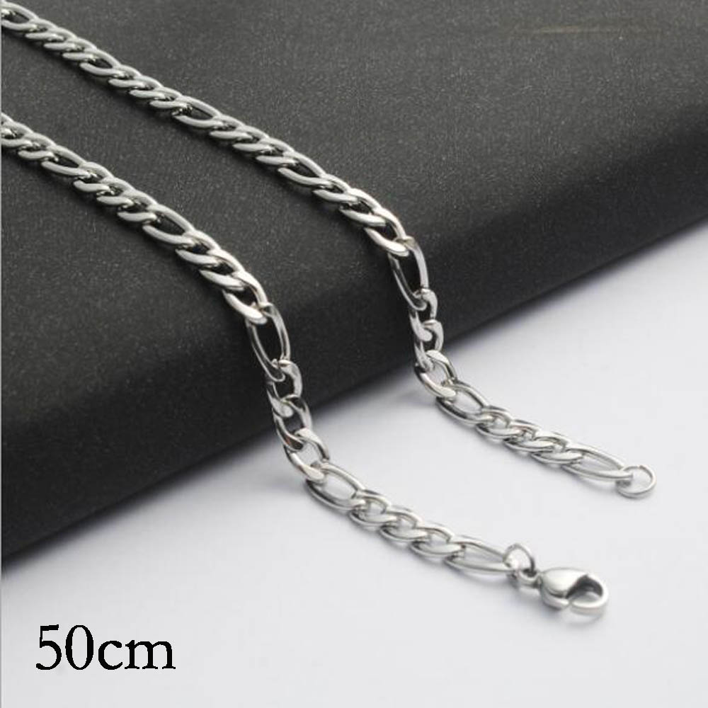 50CM Stainless steel chain necklace Jewelry Accessories, Wholesales