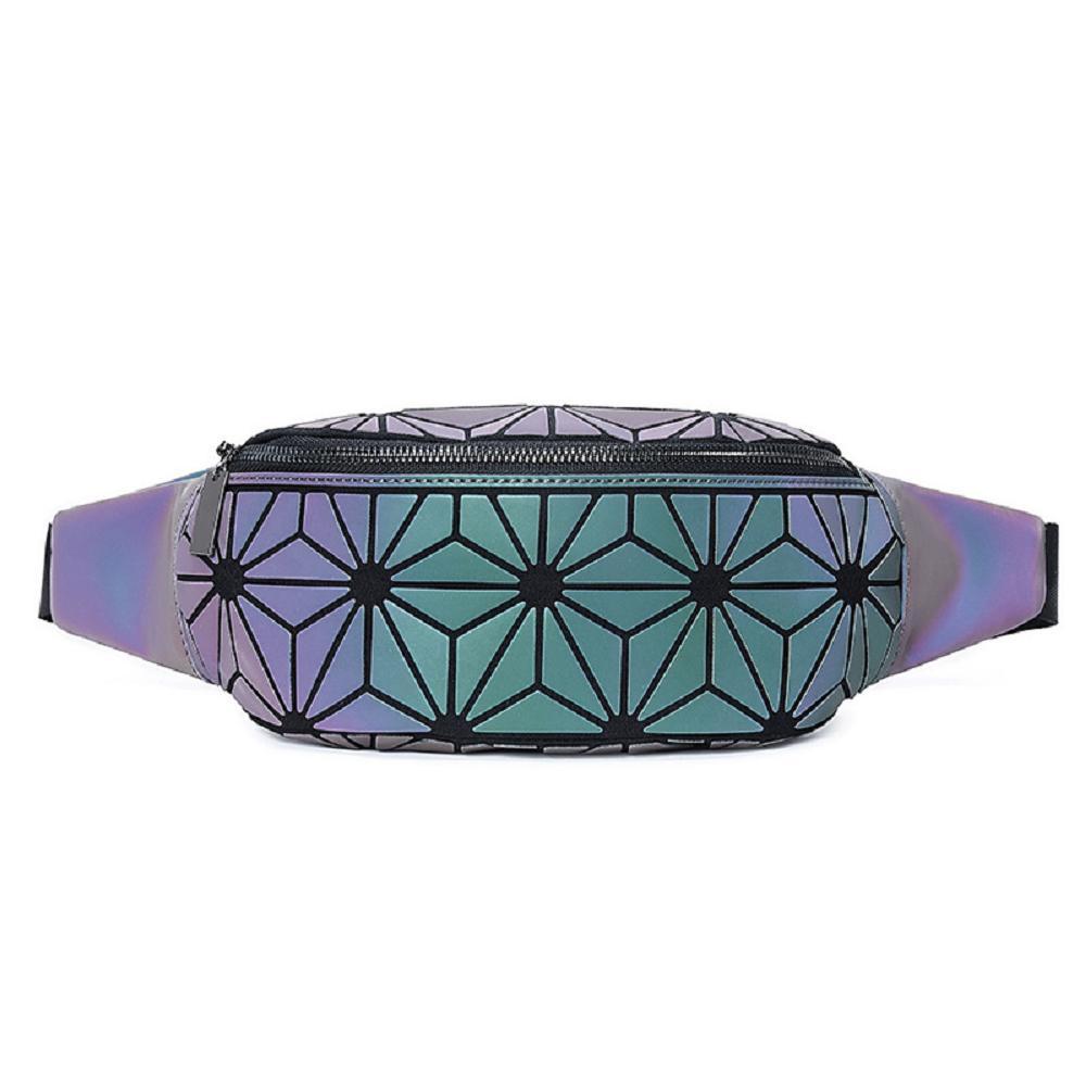 Luminous colorful fanny bag