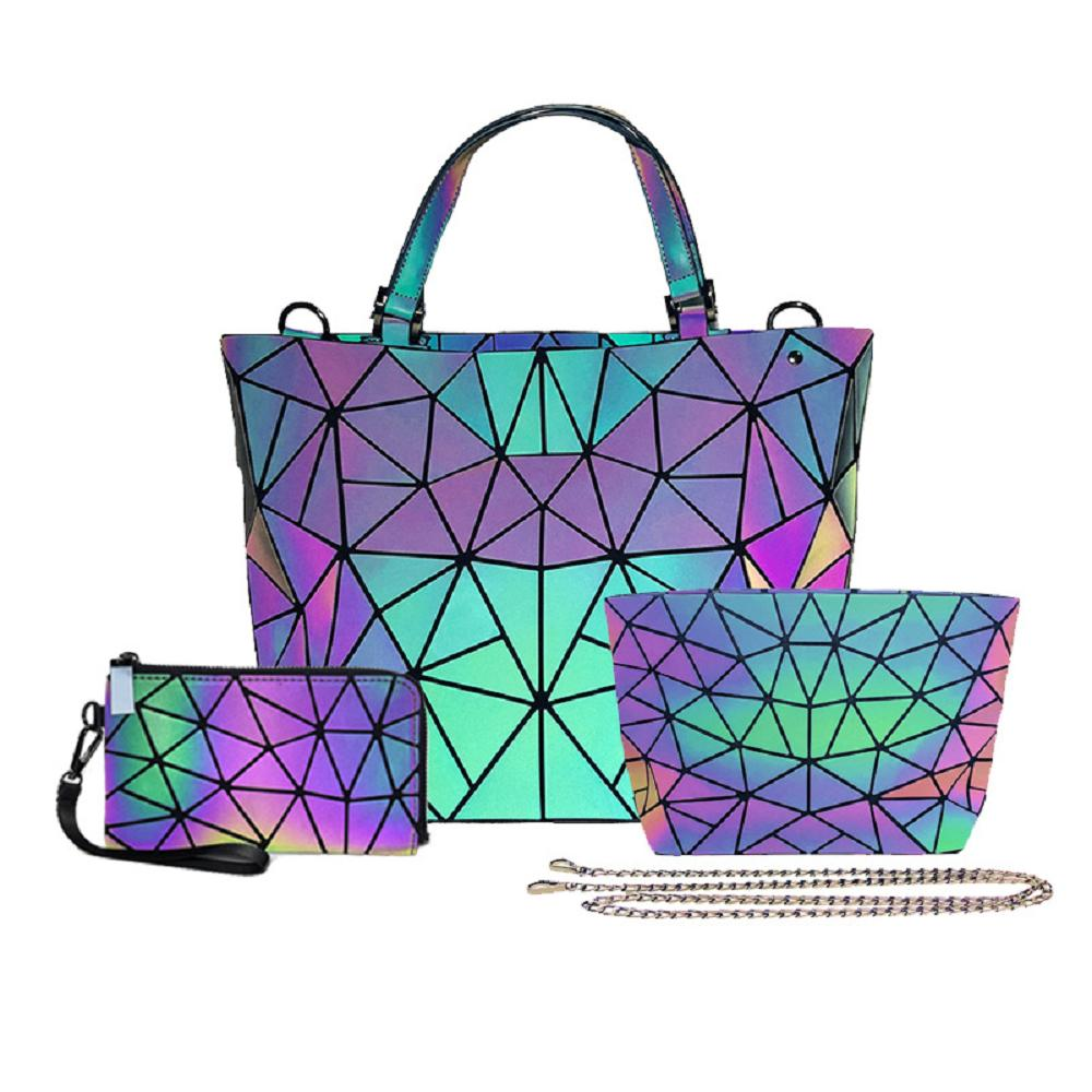 Luminous colorful Handbag