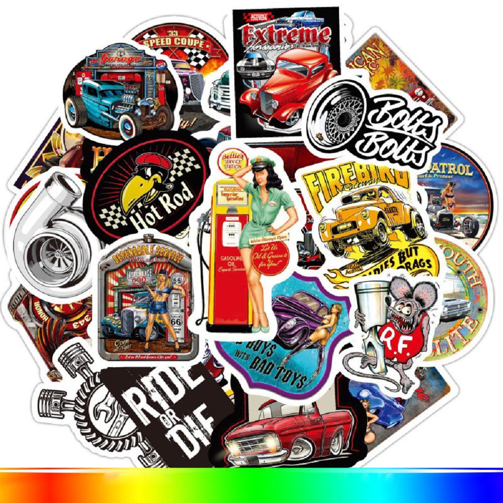 100 pcs Laptop Skateboard doodle Waterproof Sticker
