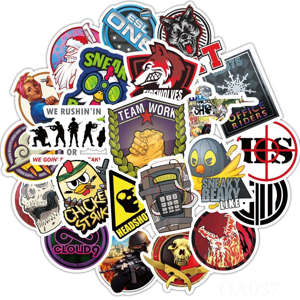 110 pcs Laptop Skateboard doodle Waterproof Sticker