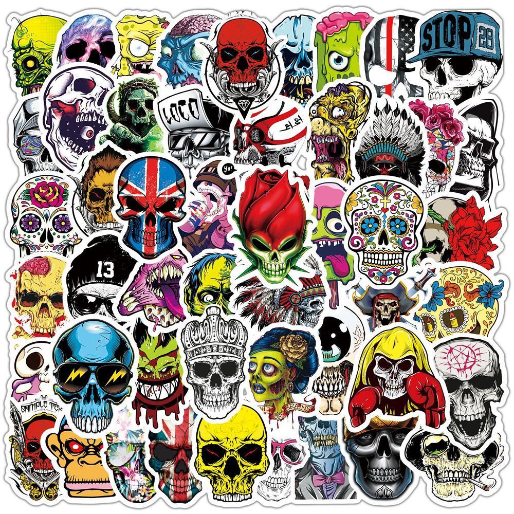 50 pcs Laptop Skateboard doodle Waterproof Sticker