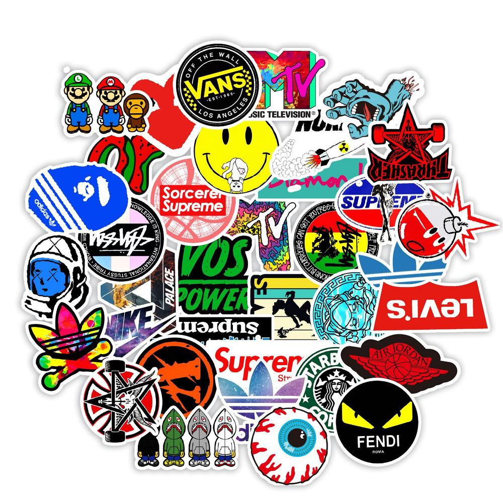 102 pcs Laptop Skateboard doodle Waterproof Sticker