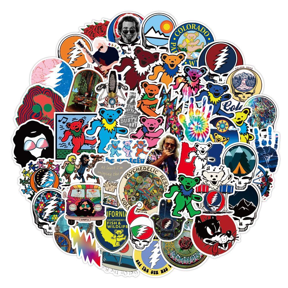 53 pcs Laptop Skateboard doodle Waterproof Sticker