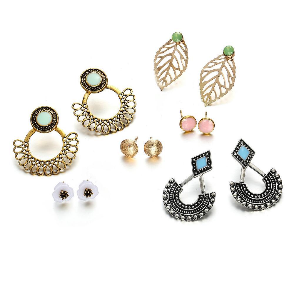 6 pair Fashion Earrings