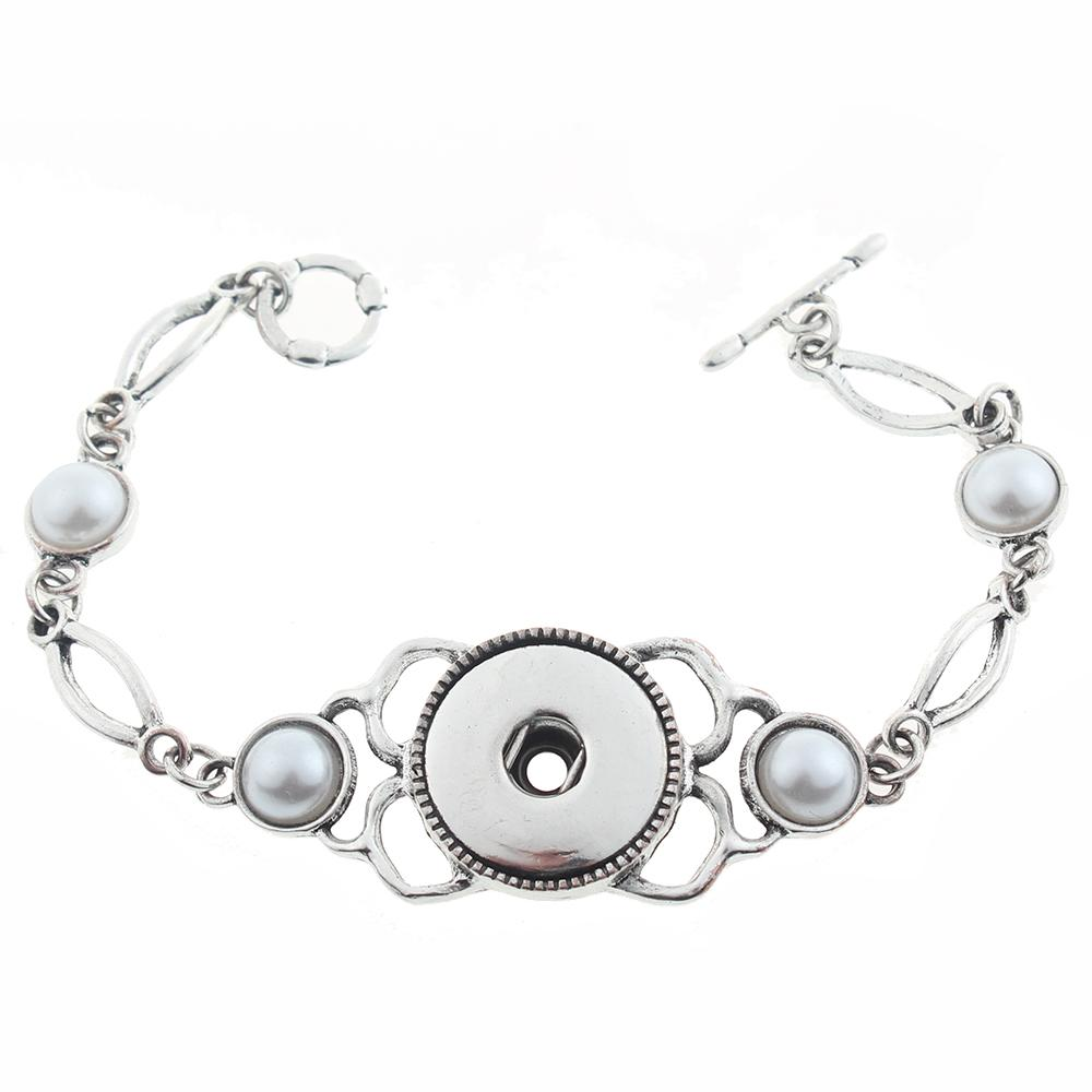 20mm snap button bracelet Jewelry plated sliver