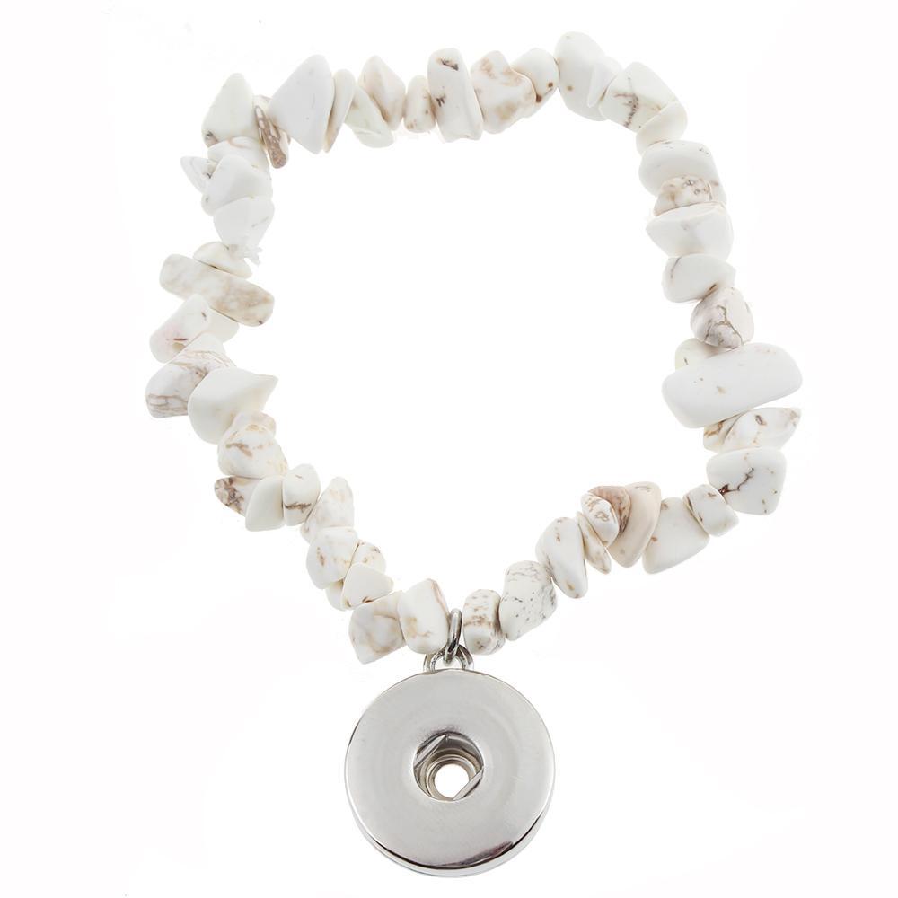 snap bracelet natural stone bracelet
