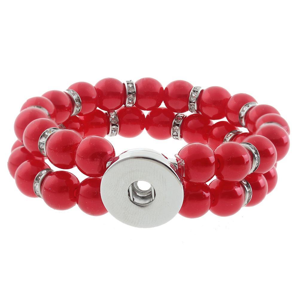 20mm Gemstones Snap Bracelet Jewelry