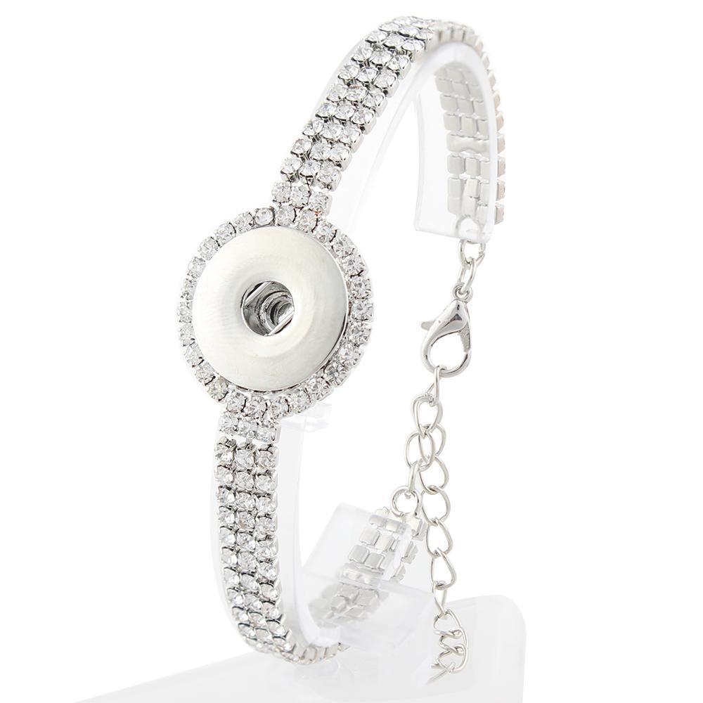 20mm snaps crystal bracelets