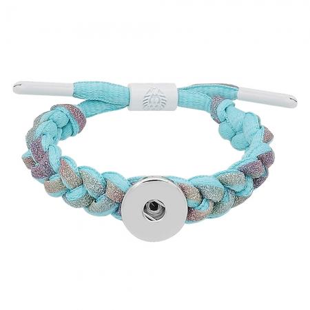 20MM Braided rope bracelet Snap Bracelet Jewelry