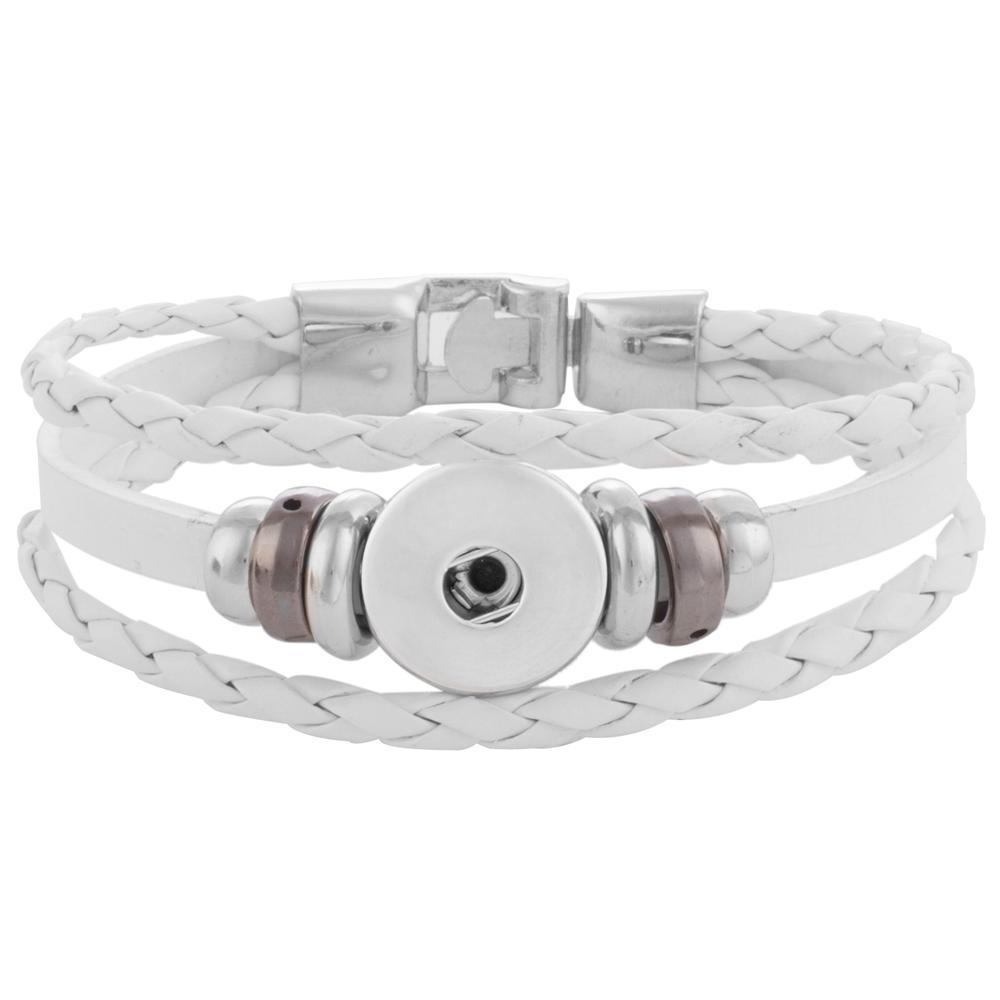 20MM Leather bracelet Snap Bracelet Jewelry