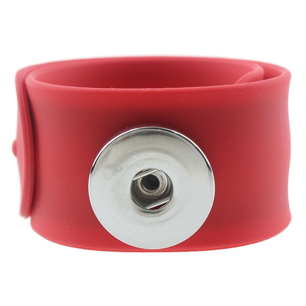 Hot Sale red papa circle Silica gel  Snap Button Bracelet Bangles fit 20MM Snap Jewelry