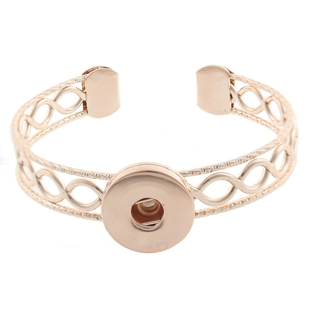 Rose-Gold-plated 20mm snaps bangle