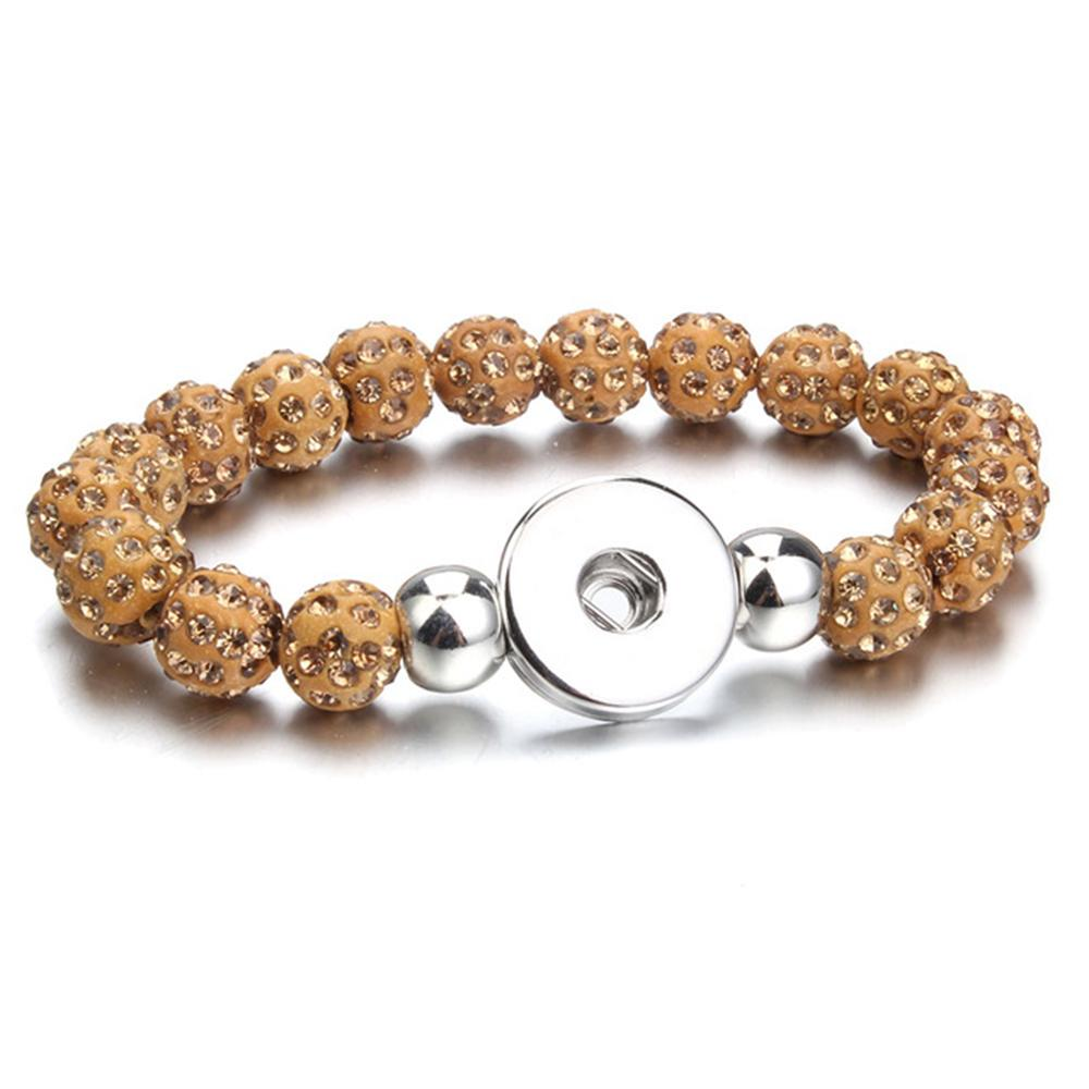 20mm Beads Snap Button Bracelet