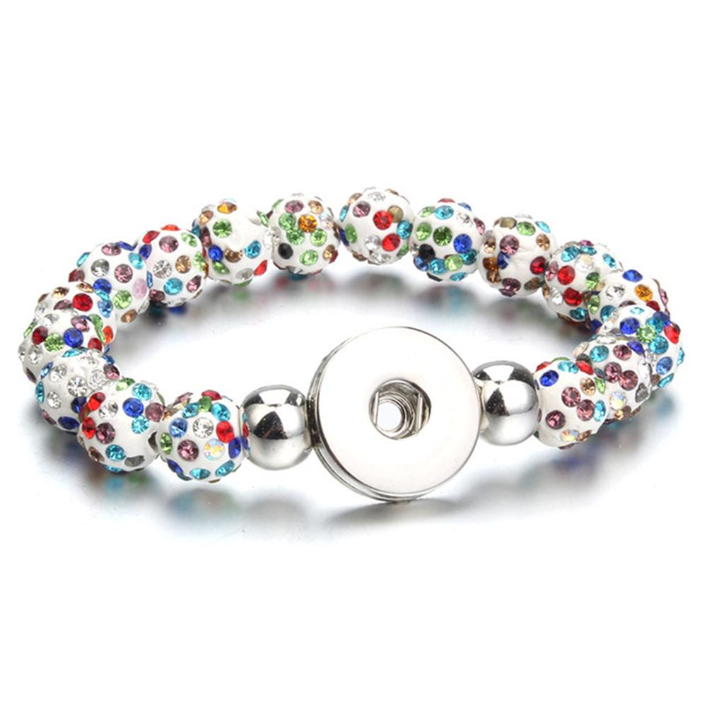 20mm Beads Snap Button Bracelet