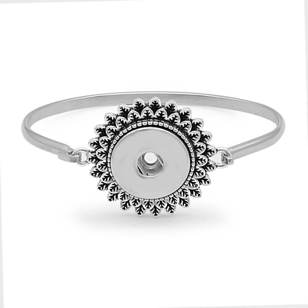 20mm snaps bangle stainless steel bracelet