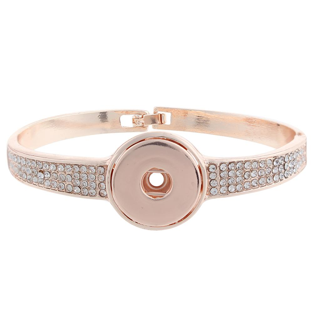 Rose Gold-plated snap button bracelets Jewelry