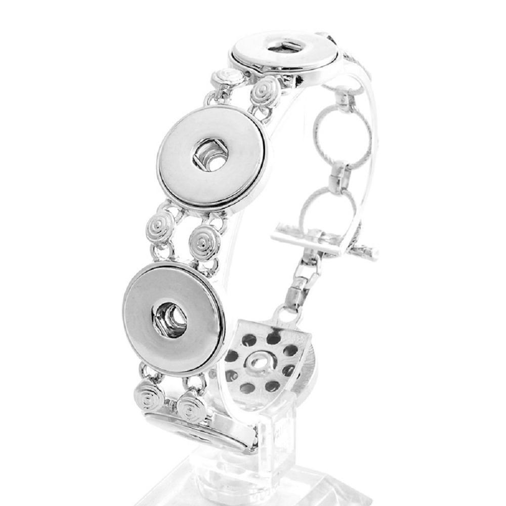 5 Buttons 20MM Snap Bracelet Jewelry