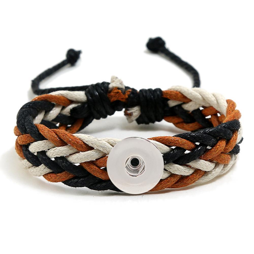 20MM Woven Bracelet Snap Bracelet Jewelry