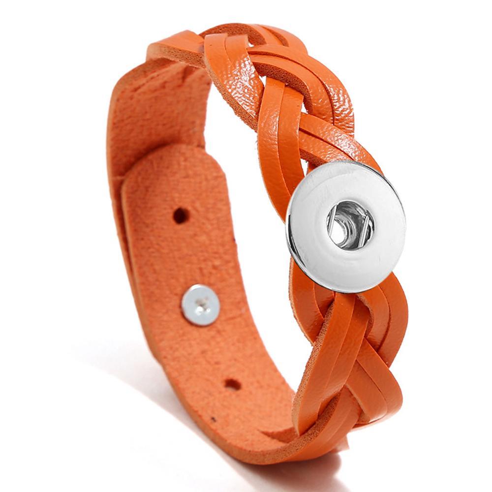 20MM Woven leather thread Snap Bracelets