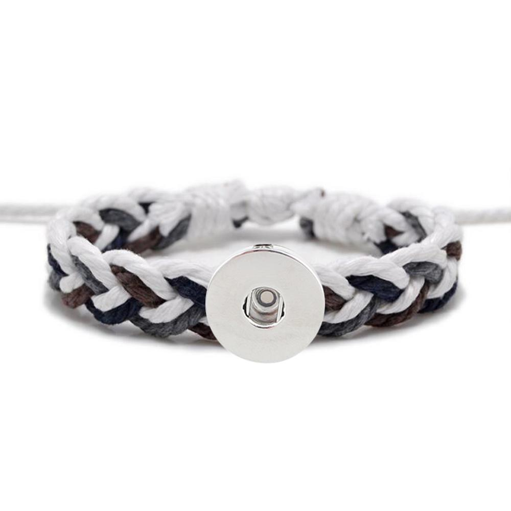 20MM Woven Cotton thread Snap Bracelets