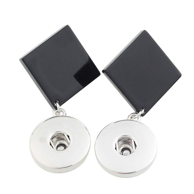 Metal Snaps Earring for 18 or 20mm snap button