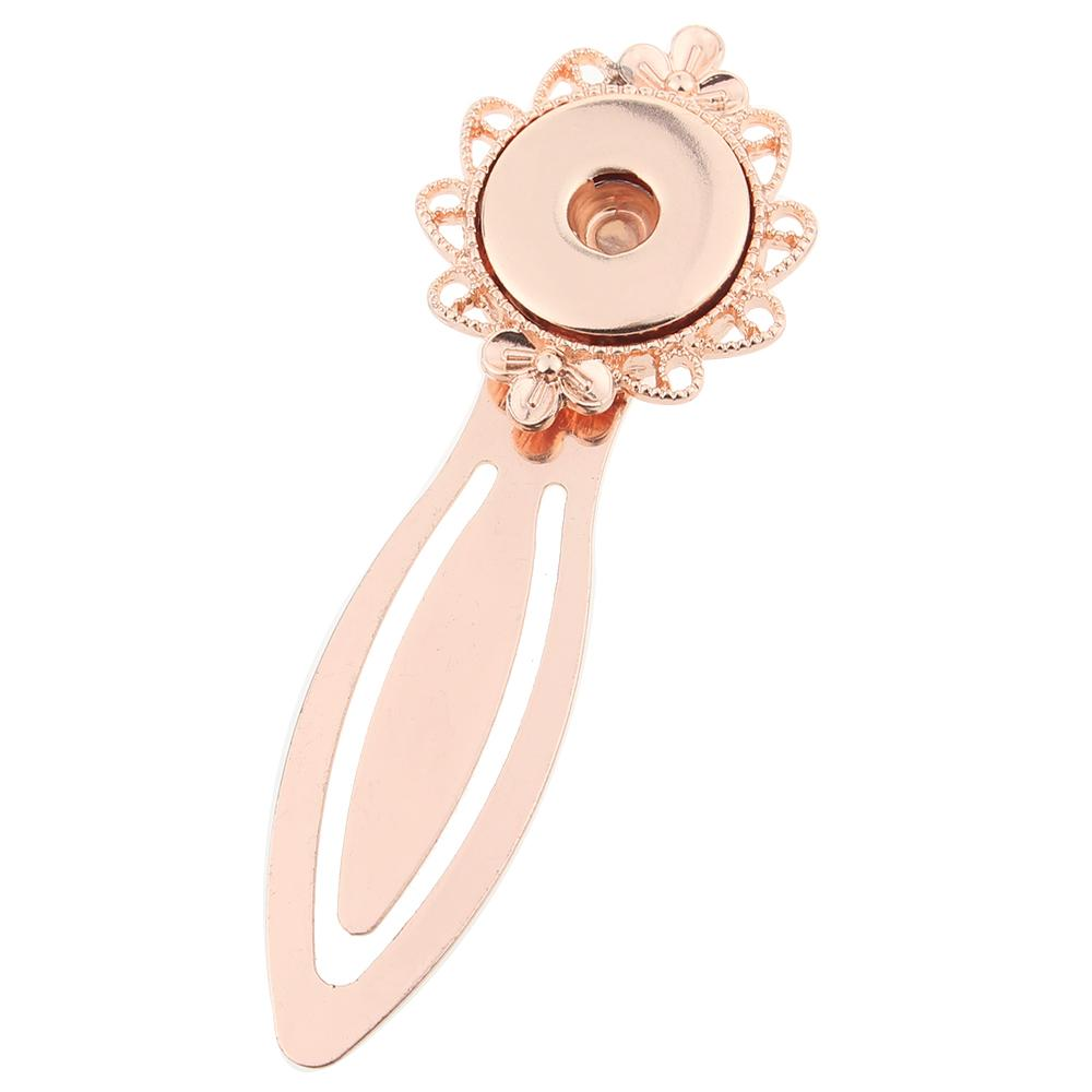 Rose Gold-plated Snaps bookmark Fit 20mm snap button