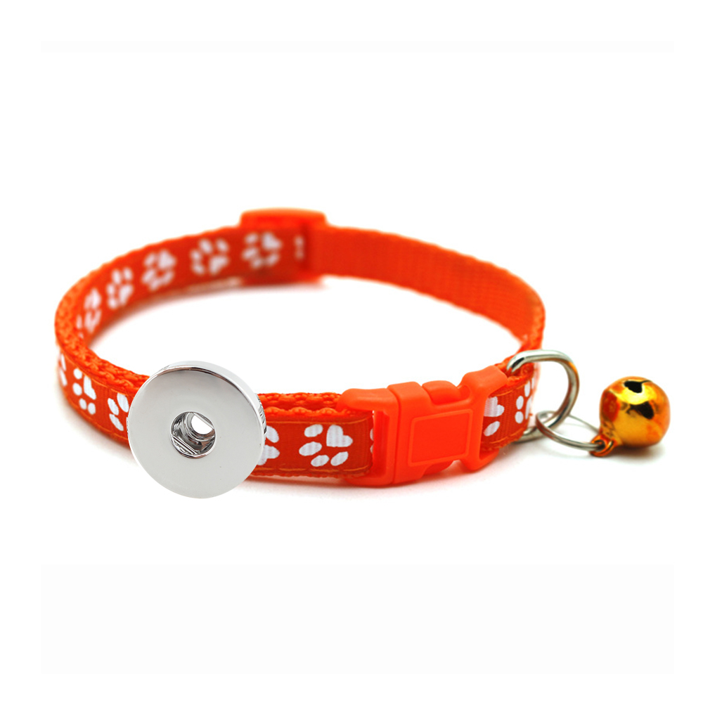 Pet Dog Cat bell collar fit 18&20MM snaps button snap jewelry
