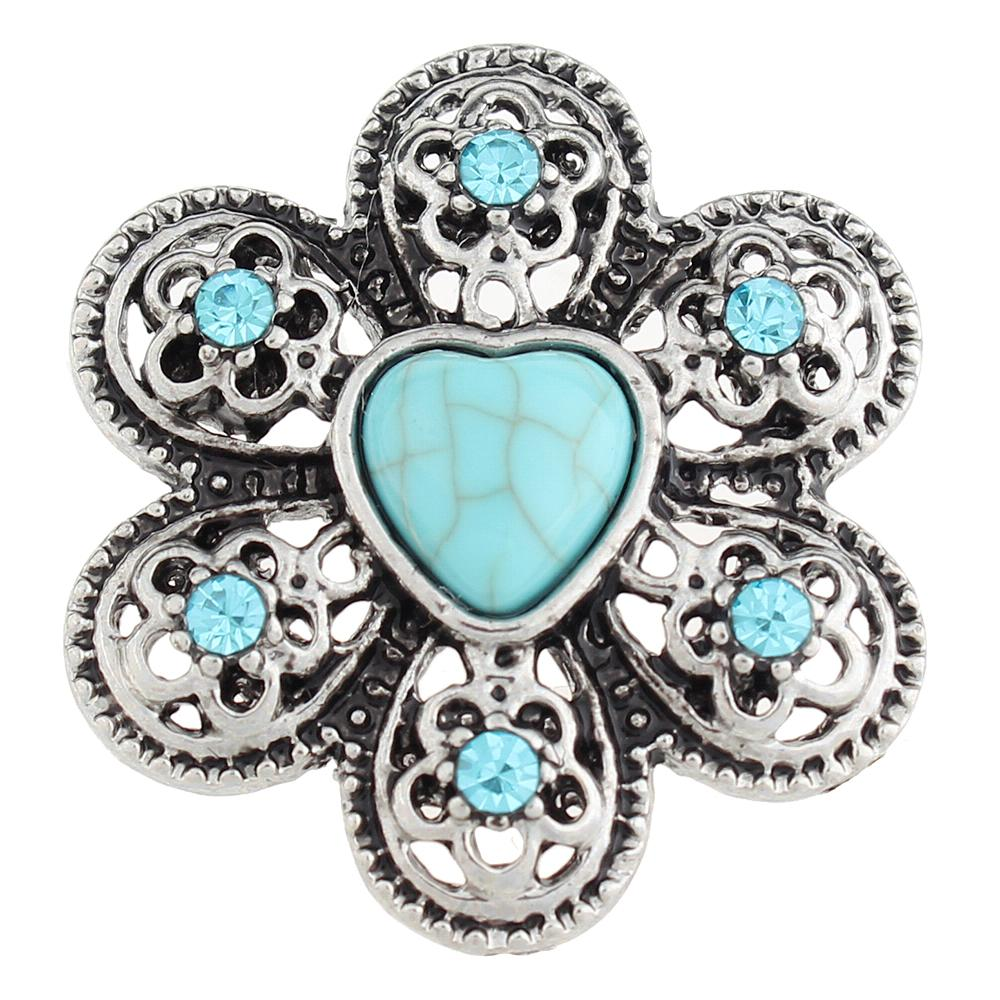 Turquoise 28.5mm Snap Button