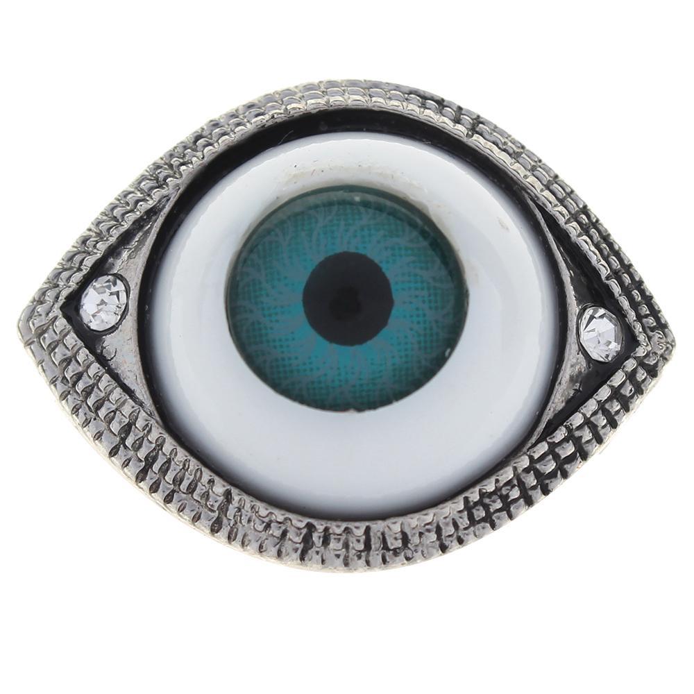 Ellipse The 20mm devil eyes white rhinestone alloy metal snaps