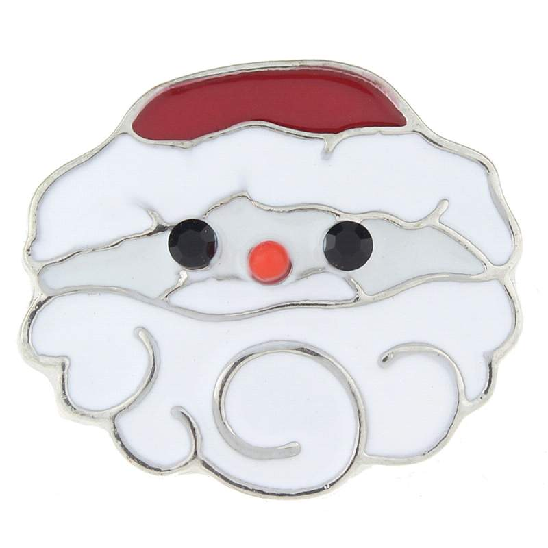 Christmas Santa Claus snaps with enamel 20mm Snap Button
