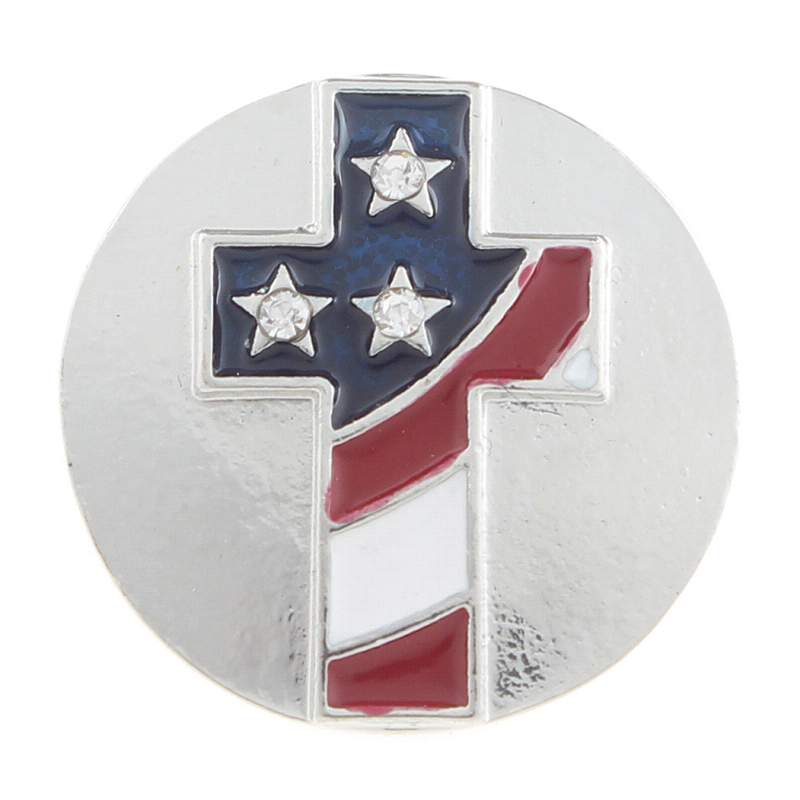 20MM cross snaps with rhinestone Snap Button