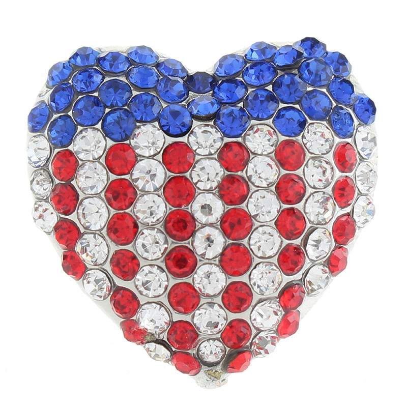 20MM National flag snaps with rhinestone 20mm Snap Button