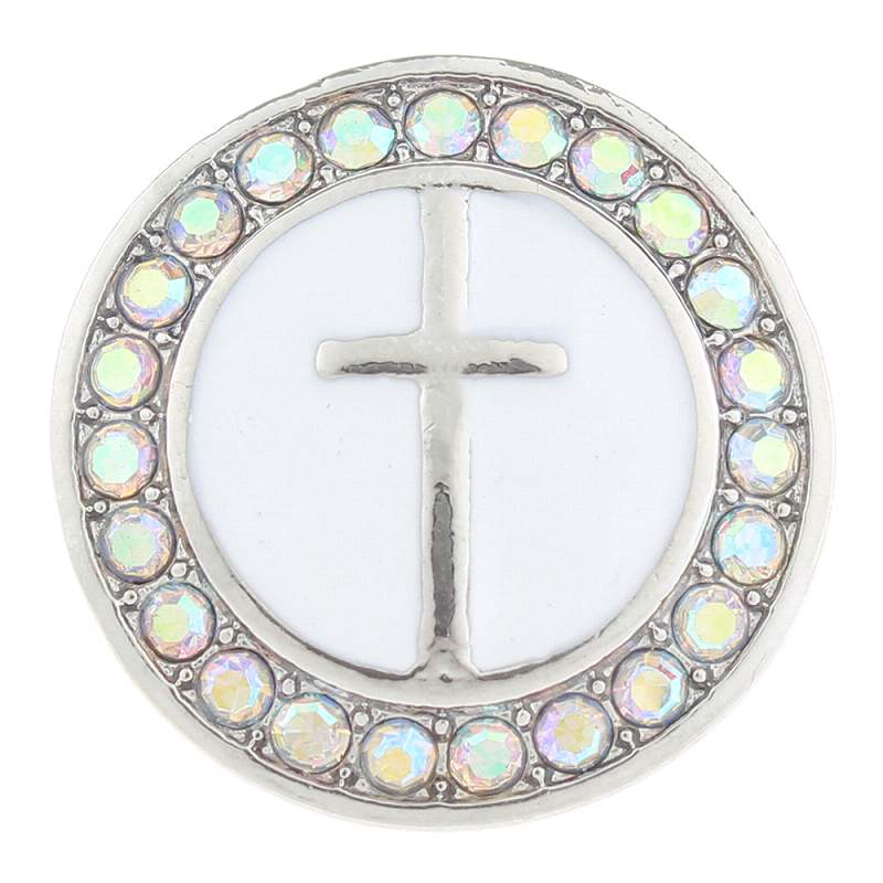20MM cross snaps with rhinestone 20mm Snap Button