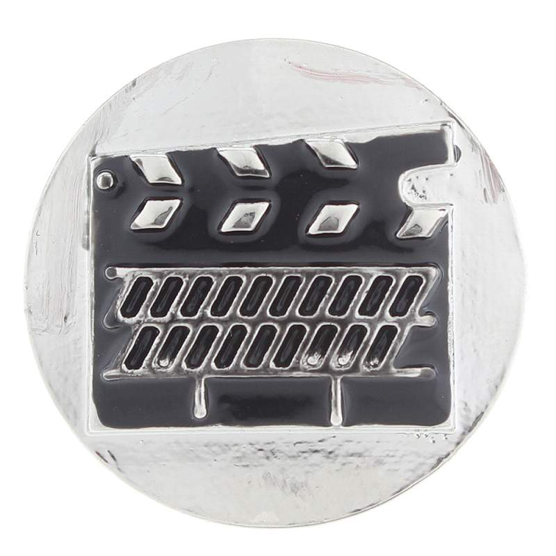 20MM film snaps plated sliver Snap Button