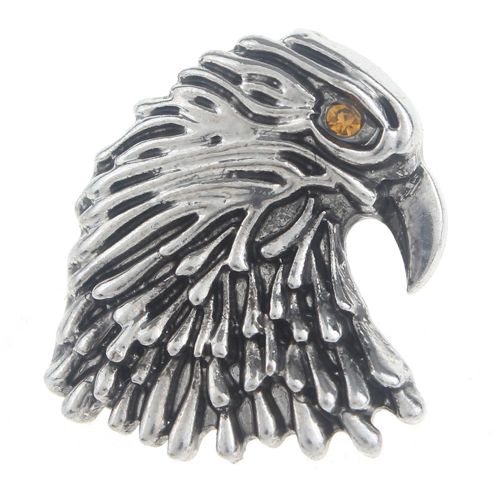 20mm eagle Snap Button with rhinestone