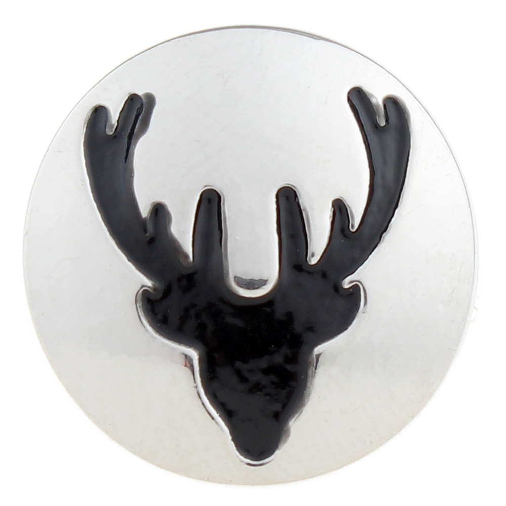 20mm Christmas deer Snap Button with enamel