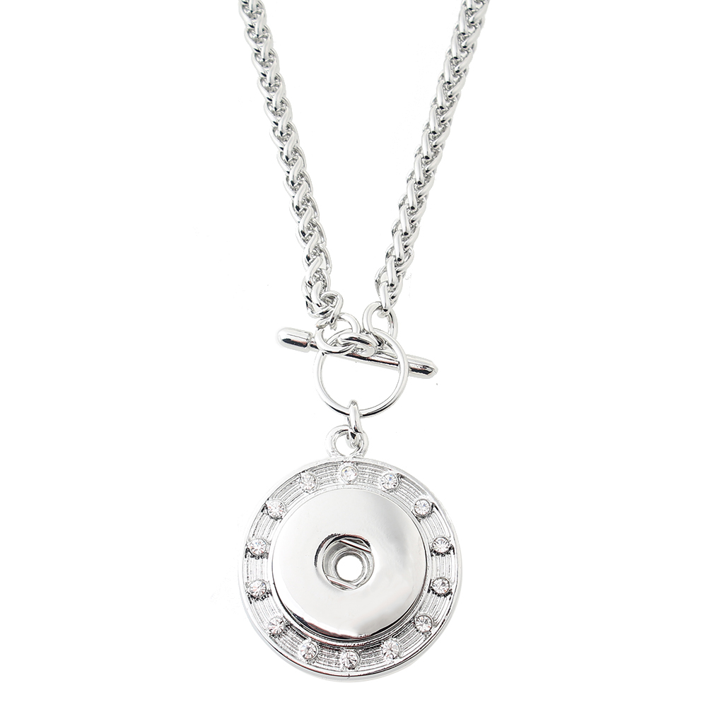 Silver-plated Snaps Necklace with 80CM Chain