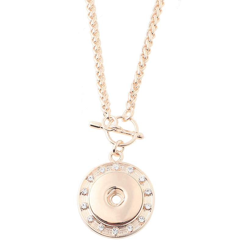 Rose gold-plated Snaps Necklace with 80CM Chain