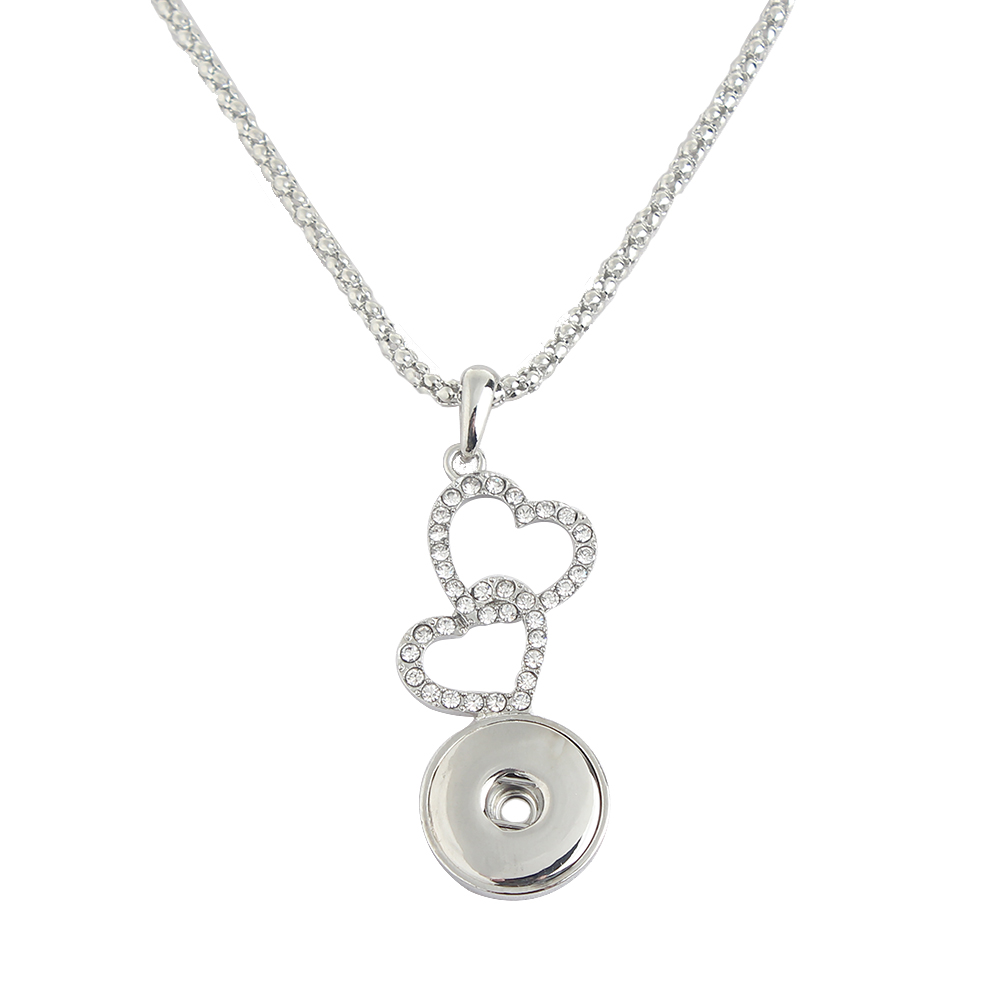 Silver-plated love Snaps Necklace with Chain