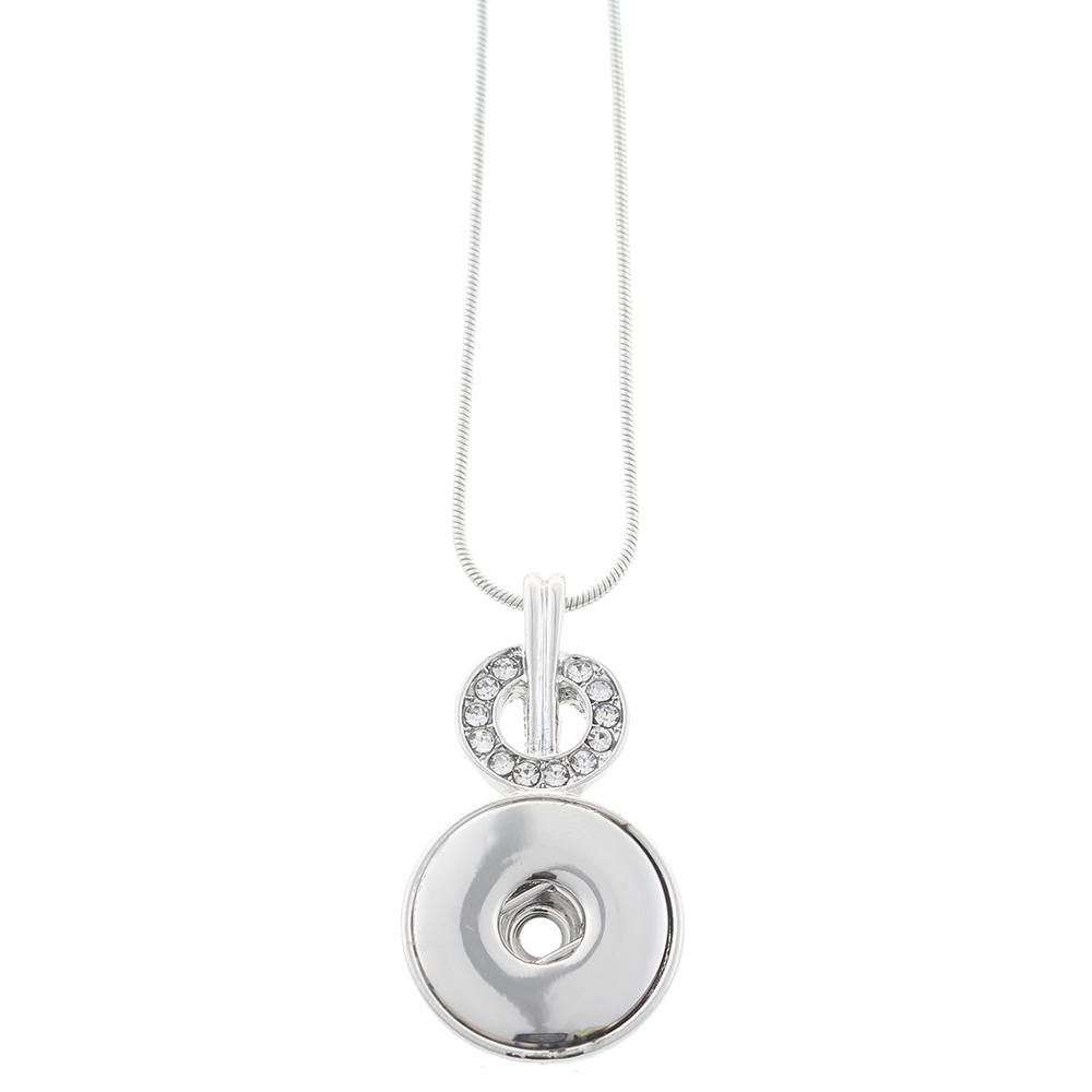 Silver-plated Snaps Necklace with Chain
