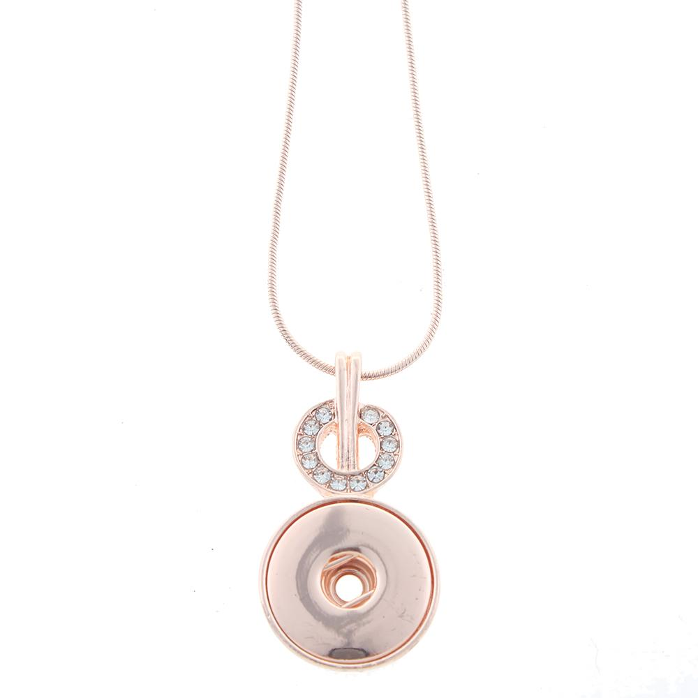 Rose golden-plated Snaps Necklace with Chain