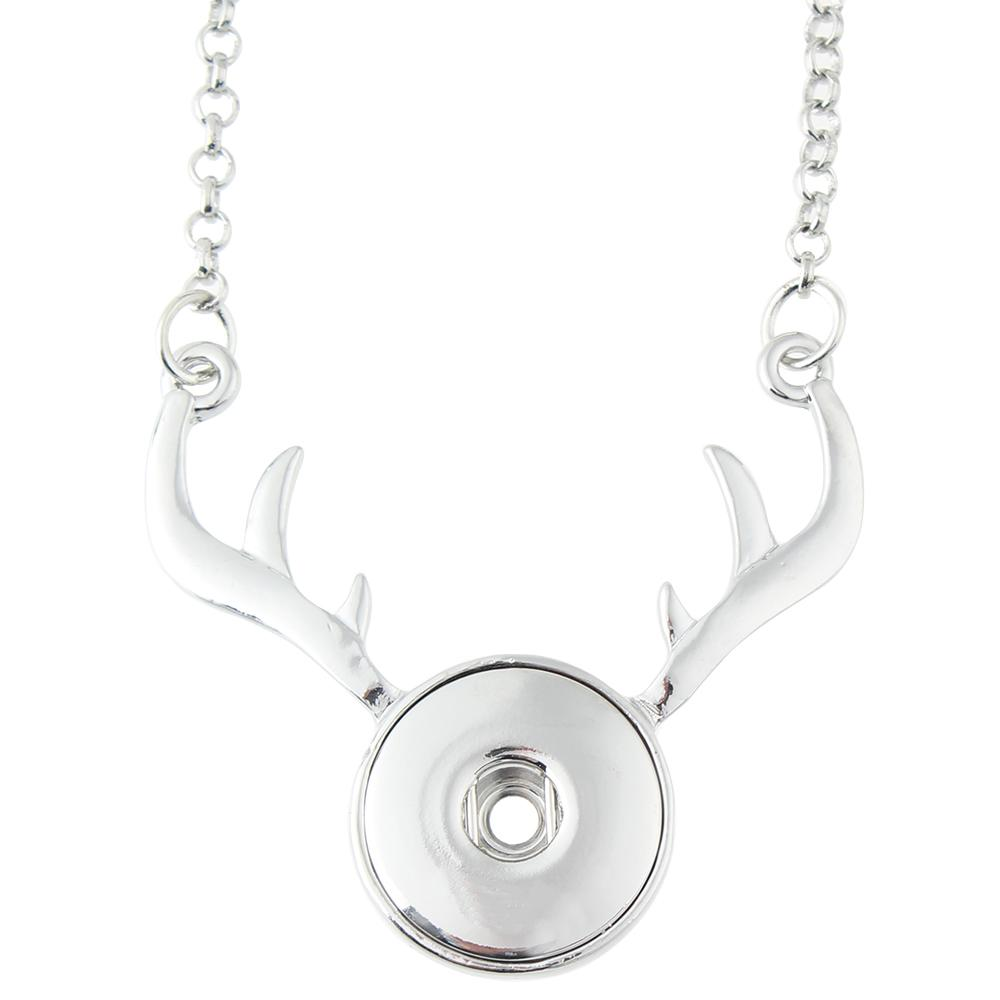 Christmas Xmas Animal Deer Snaps Necklace With 65cm Chain