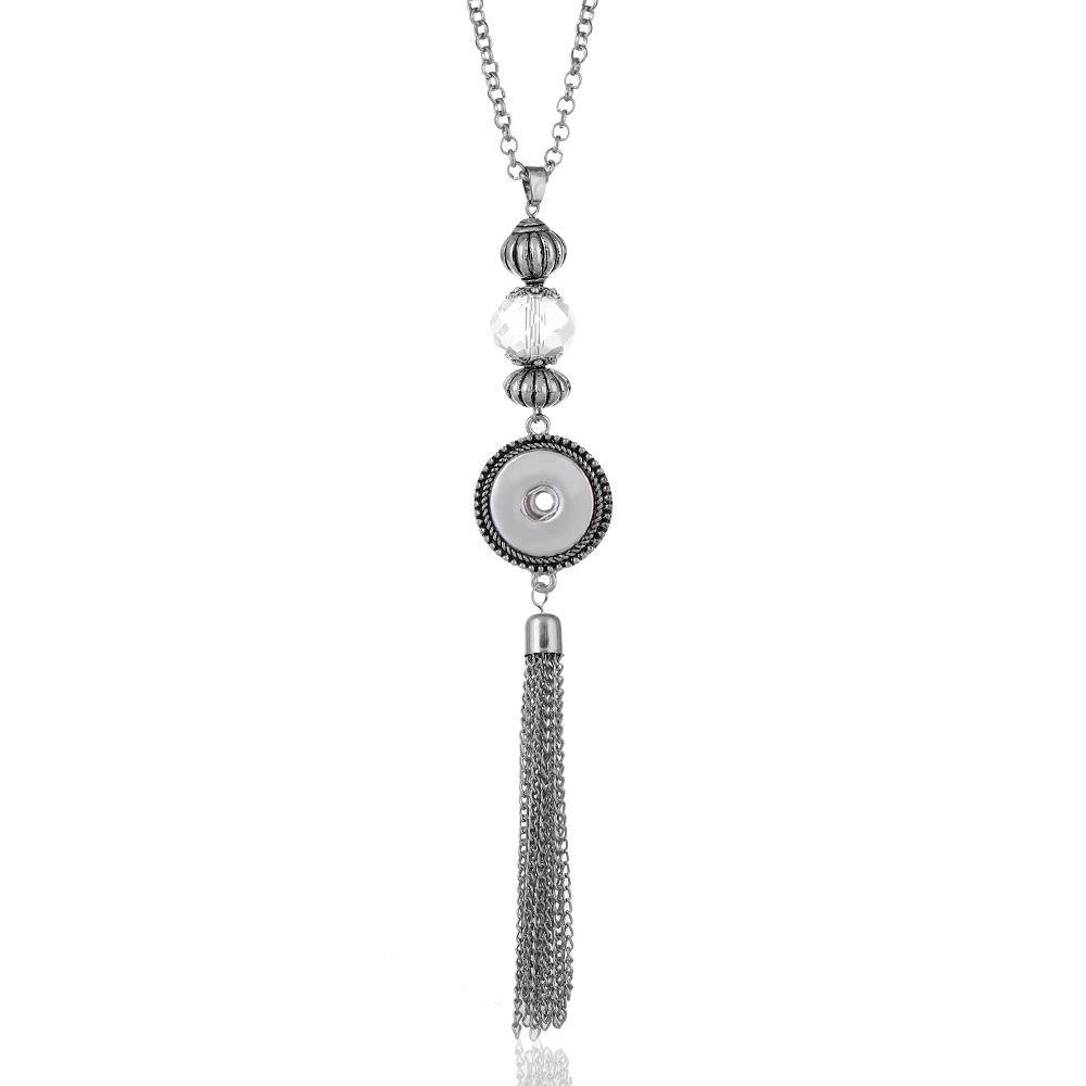 Tassels Snaps Necklace Jewelry With 75CM Chain