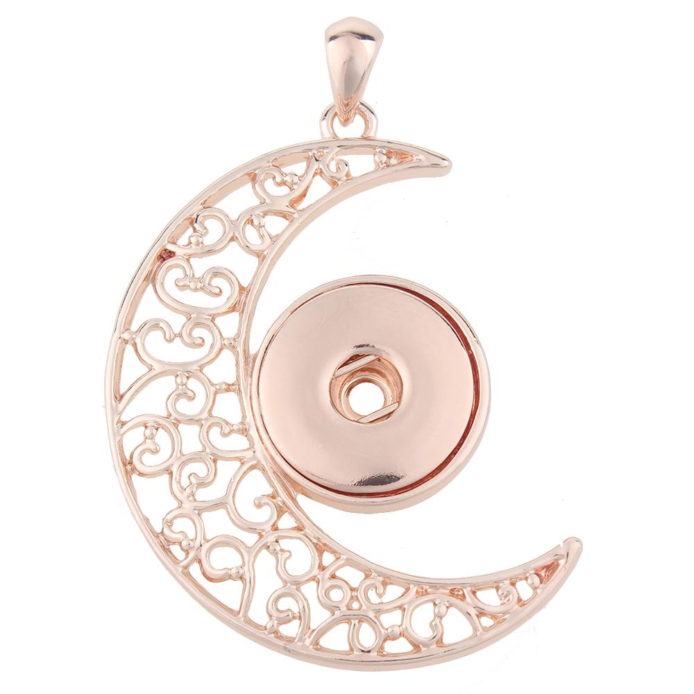 High quality Rose Gold-plated Snaps pendants without chain
