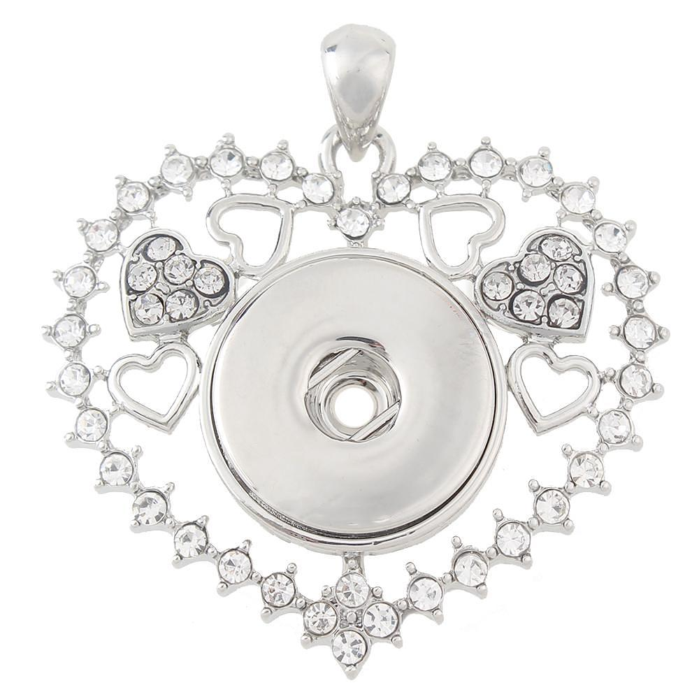 Love openwork High quality Snaps pendants without chain