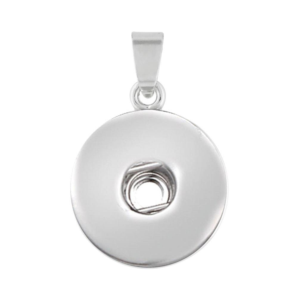Simplest basis snap button pendant without chain