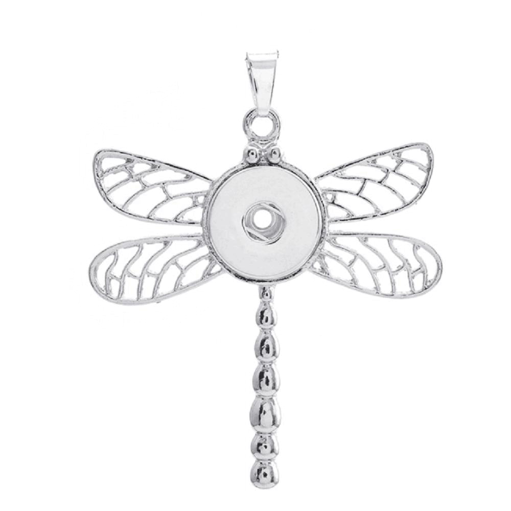 Animal Dragonfly snap button pendant without chain